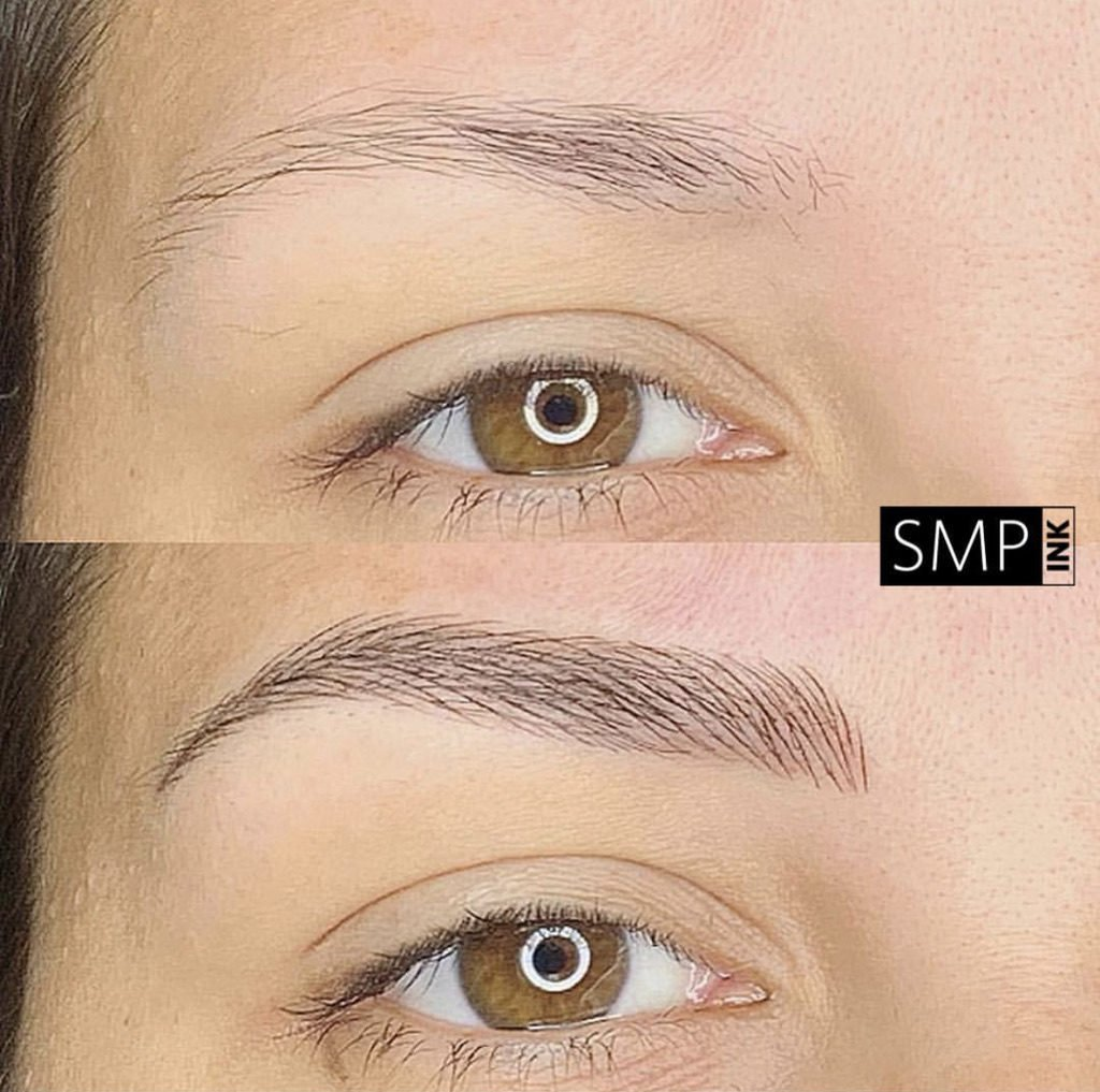 A great example of the best microblading in Las Vegas