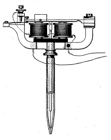 Drawing of a tattoo gun