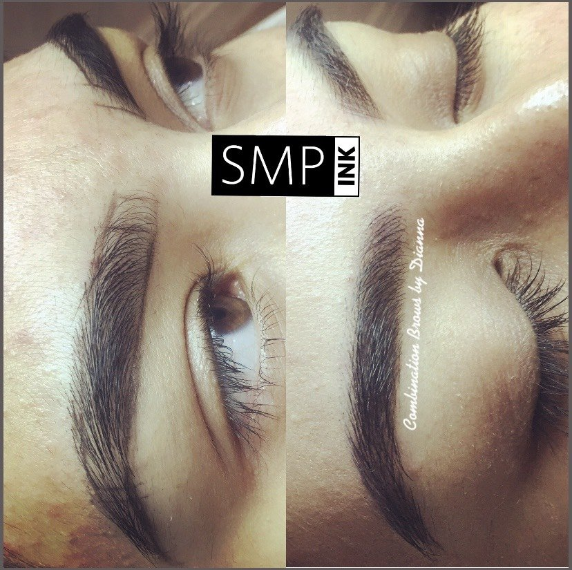 Woman who got microblading done to her eyebrows