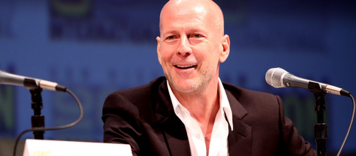 Bruce Willis; a sexy bald celebrity - Photo by Gage Skidmore